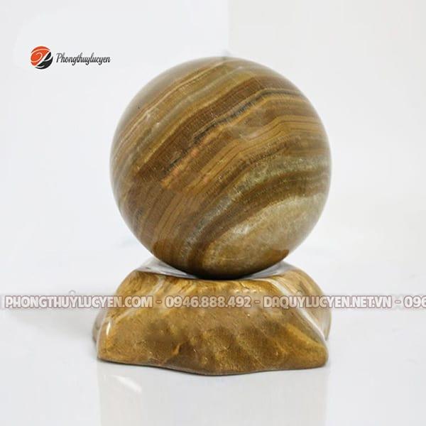Quả cầu đá phong thủy Vân Gỗ