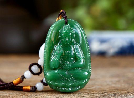 PBM đá Mã não xanh Phật a di đà