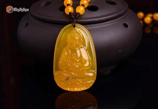 Phật bản mệnh A Di Đà Thạch Anh Vàng