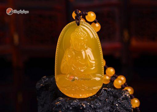 Phật bản mệnh A Di Đà Thạch Anh Vàng ảnh 2
