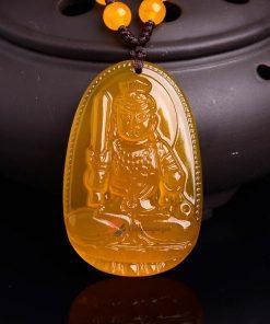 Phật bản mệnh Bất Động Minh Vương Thạch Anh Vàng
