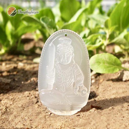 Phật bản mệnh tuổi Dậu đá Mã Não Trắng