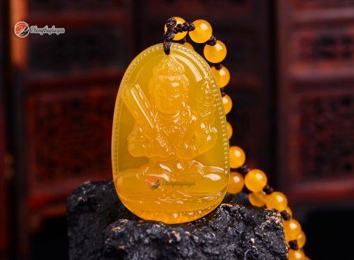 Phật bản mệnh Hư Không Tạng Bồ Tát Thạch Anh Vàng