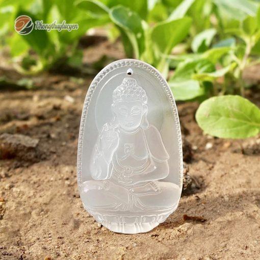 Phật bản mệnh tuổi Tuất đá Mã Não Trắng
