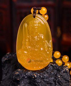 Phật bản mệnh Văn Thù Bồ Tát Thạch Anh Vàng