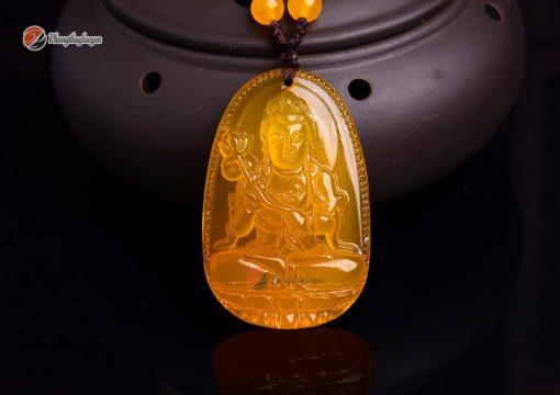Phật bản mệnh Đại thế chí bồ tát đá Thạch anh vàng ảnh 3