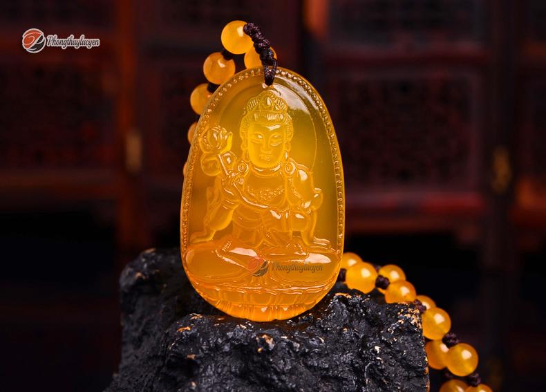 Phật bản mệnh Đại thế chí bồ tát đá Thạch anh vàng ảnh 2