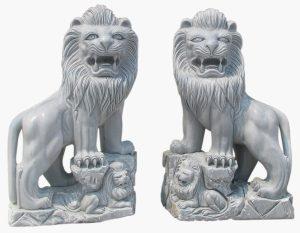 Trưng bày tượng sư tử trong phong thủy theo đôi