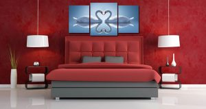 Tranh thiên nga đặt trong phòng ngủ đem lại hạnh phúc đôi lứa bền lâu