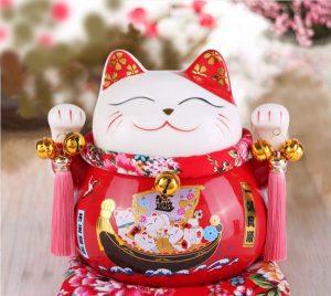 Trưng bày mèo Thần Tài